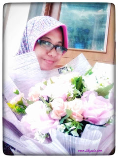 me and pink flower