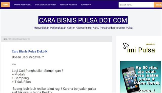 Contoh Blog Pulsa