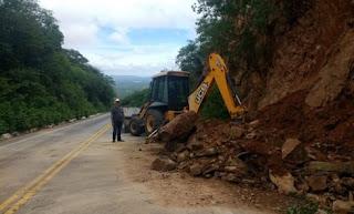 Fortes chuvas provocam deslizamento de terra no Sertão