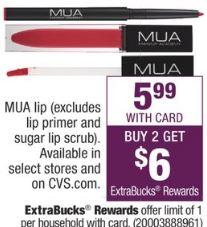 MUA Lip products