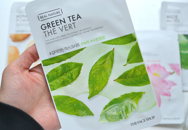 Real Nature: Lotus, Red Ginger, Green Tea, Potato and Aloe Mask Review