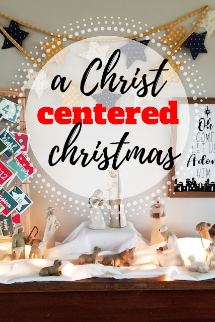 Make your home a Christ centered Christmas this year with this simple mantel idea and free cut files.
