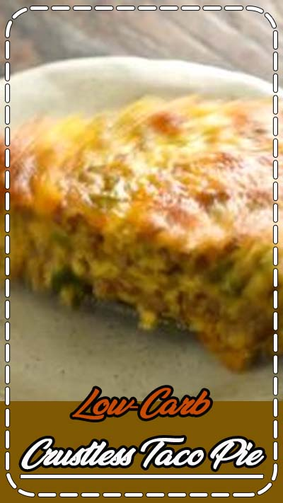 This Low-Carb Crustless Taco Pie makes an easy spicy dinner. It's crustless, so not only is it low-carb, it's also gluten-free and grain-free. This crustless quiche can work in low-carb, ketogenic, diabetic, Atkins, diabetic, and Banting diets.