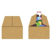 フタの閉じた・閉じていない箱のイラスト