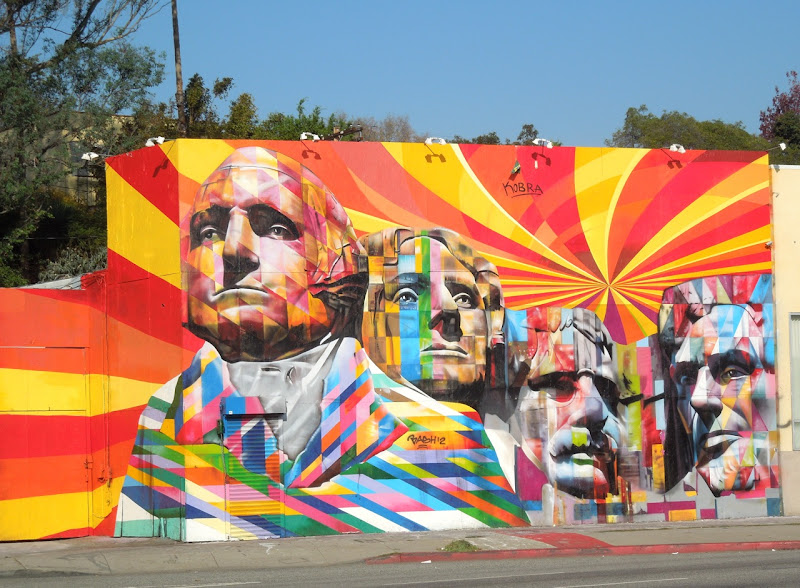Eduardo Kobra Mount Rushmore mural los angeles