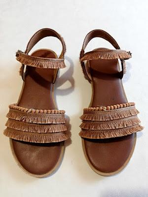 sandals, brown, smeđe, sandale, fringe, resice, strap, remen, shoes, obuća, onlajn šoping, povoljno