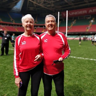 Gwyn and Anne at the Principality Stadium