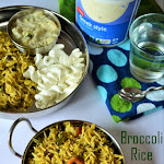 Broccoli Rice Recipe | Indian Style Broccoli Rice | Variety Rice Recipes for Lunch Box | Lunch Box Ideas