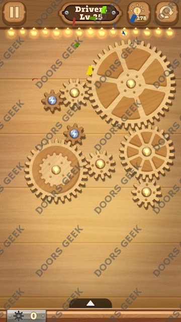 Fix it: Gear Puzzle [Drivers] Level 25 Solution, Cheats, Walkthrough for Android, iPhone, iPad and iPod