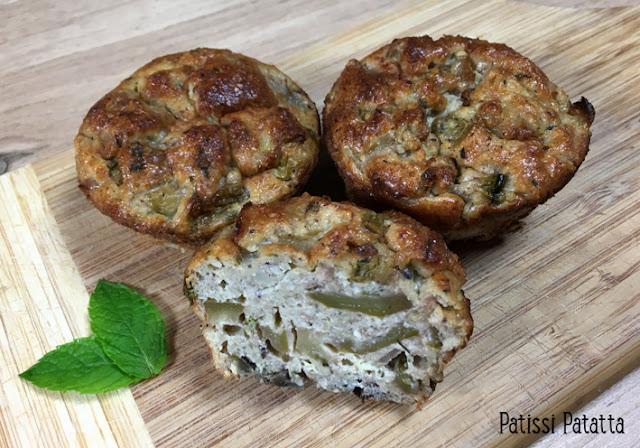 recette de muffins aux courgettes, cuisiner des courgettes, comment cuire les courgettes, muffins salés, entrée, apéritif dinatoire, accompagnement BBQ, des muffins autrement, végétarien, patissi-patatta