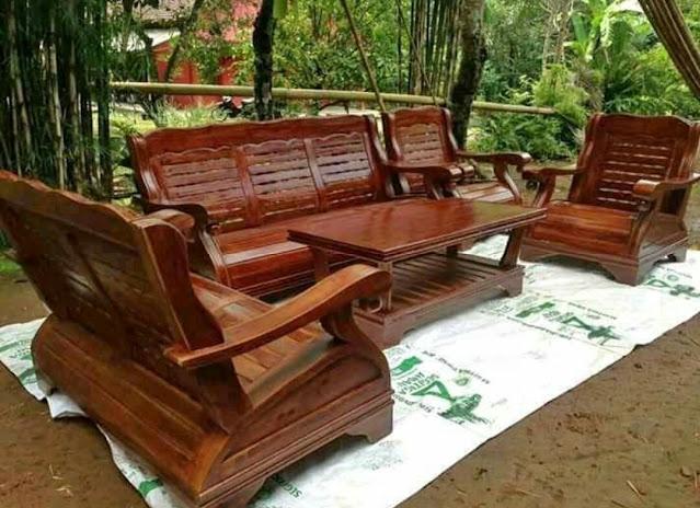 kursi tamu gajah 3211 seat bahan kayu jati berkualitas