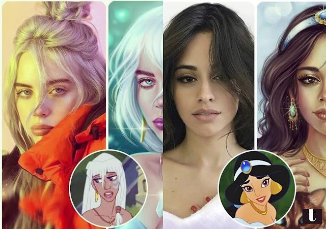 Artist re-imagines Hollywood stars as Disney characters, and the results are amazing.