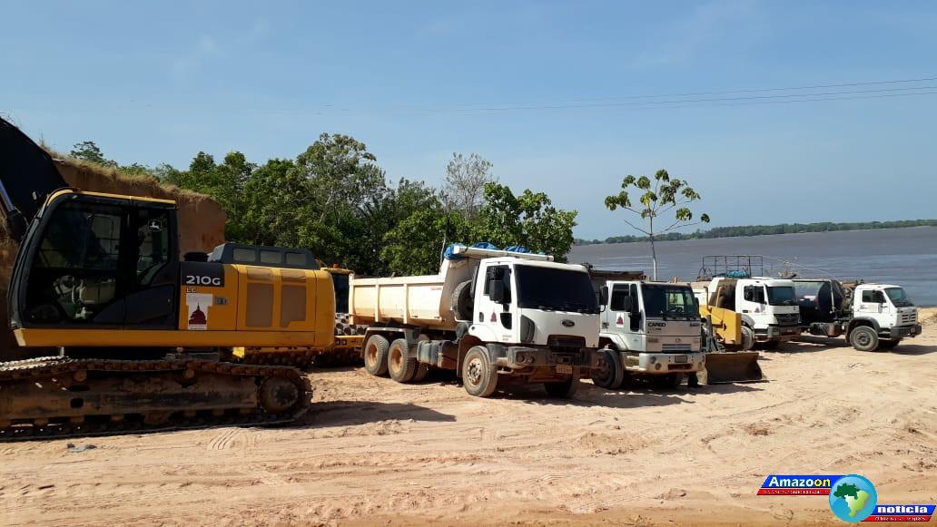 Empresa responsável pela pavimentação asfáltica  de 4,5km no perímetro do Posto Progresso – Subestação elétrica chega em Óbidos.