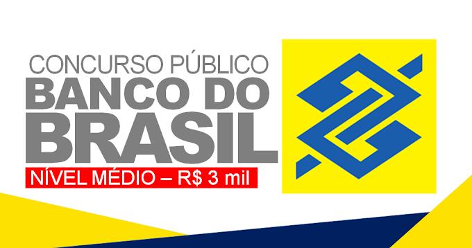 ÚLTIMOS DIAS! Concurso BB com 4.480 vagas para nível médio e salário de R$ 3.022,37