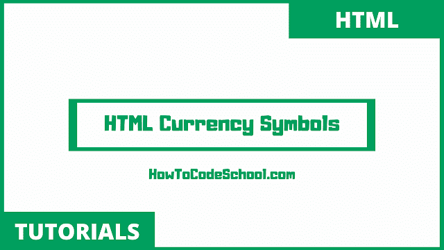 HTML Currency Symbols Code