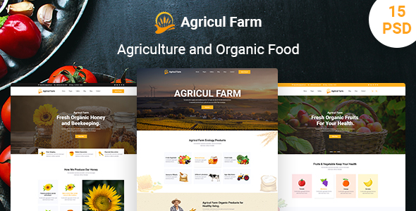 Agriculture & Organic Food Website Template