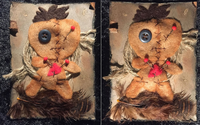 Voodoo doll ATC card