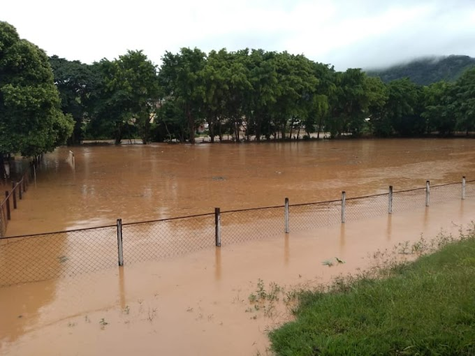 Com temporal na região, campos ficam inundados e jogos cancelados