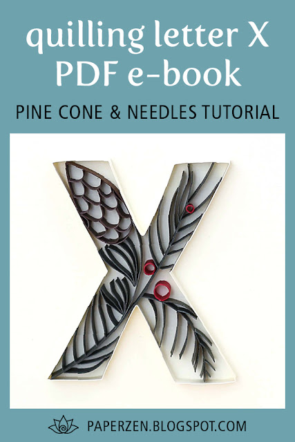 Quilling Christmas Pine Cone Needles Tutorial