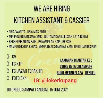 Lowongan Kerja Store Beta Creampuff Sebagai Kitchen Assistant & Cassier