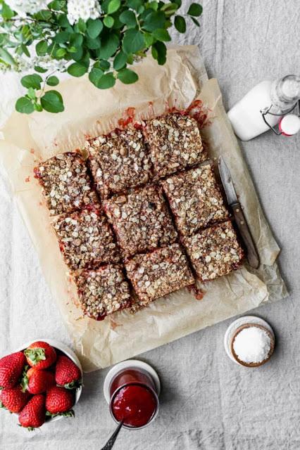 gluten free strawberry jam bars