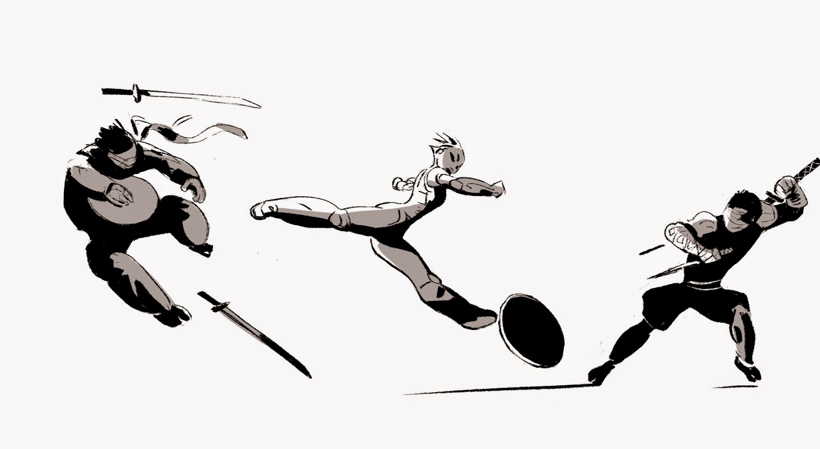The Art Of Kevin Nelson From Big Hero 6 Early Gogo Skating Sketches