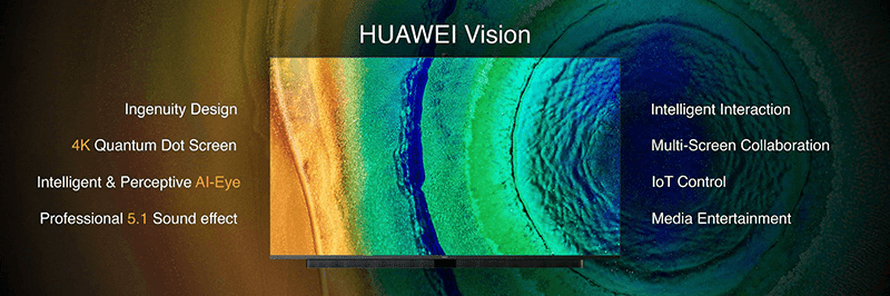 Huawei Vision 4K TV with HarmonyOS is official