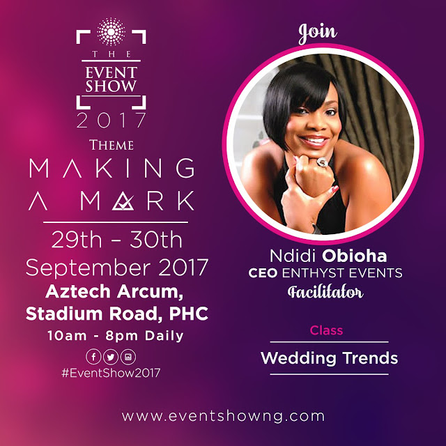 CONFIRMED: Ndidi Obioha, CEO Enthyst Events #TheEventShow2017