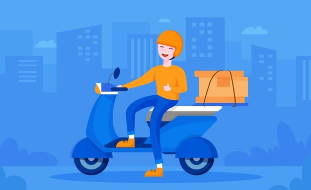 arti with delivery courier