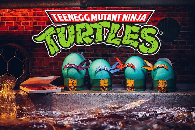 Tortugas Ninja: Disfraces para Huevos de Pascua para Imprimir Gratis.