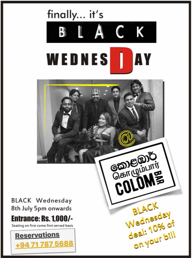 Finally it's a Black Wednesday | At Colombar.