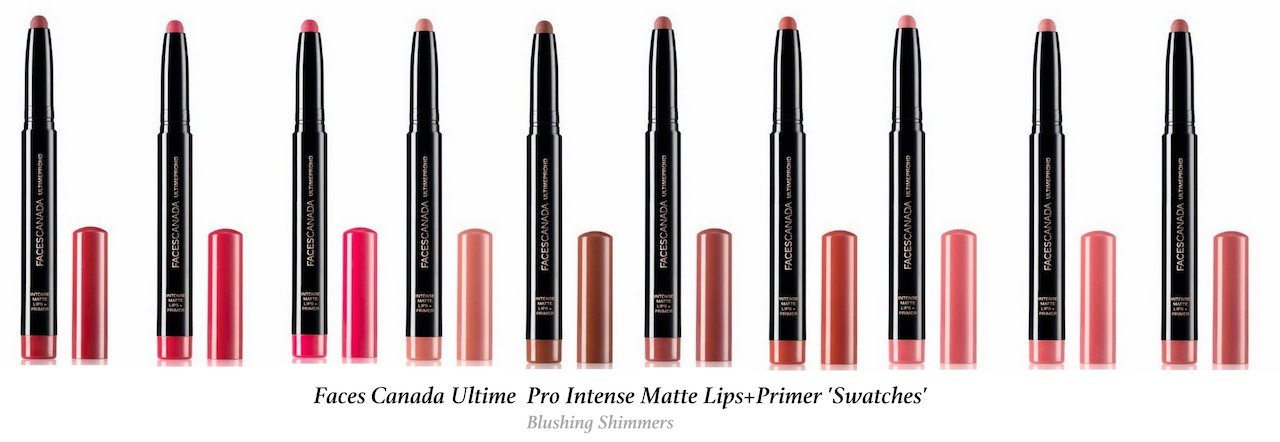 Faces Canada Ultime Pro Intense Matte Lips + Primer Swatches