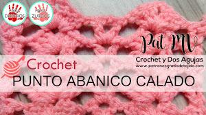 Cómo tejer punto abanico calado a crochet / Tutorial para diestros y zurdos