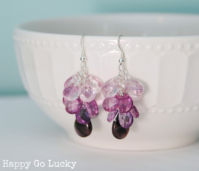 Easy Ombre Earrings Tutorial from Happy Go Lucky for Love Grows Wild #tutorial #diy #jewelry #ombre
