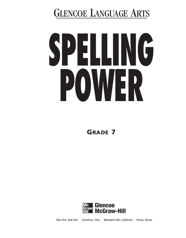 Printables Spelling Power Worksheets imans home school spelling workbooks grades 7 12 12
