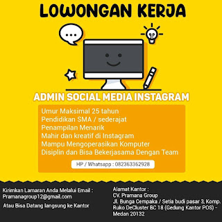 Admin Social Media CV Pramana Group