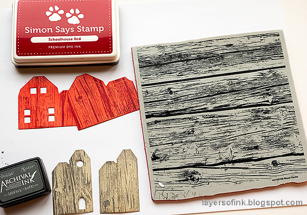 Layers of ink - Spring Village Tutorial by Anna-Karin Evaldsson. Stamp with Simon Says Stamp Wood Planks background.