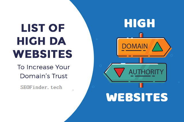 100+ High DA PA  Backlink Site List