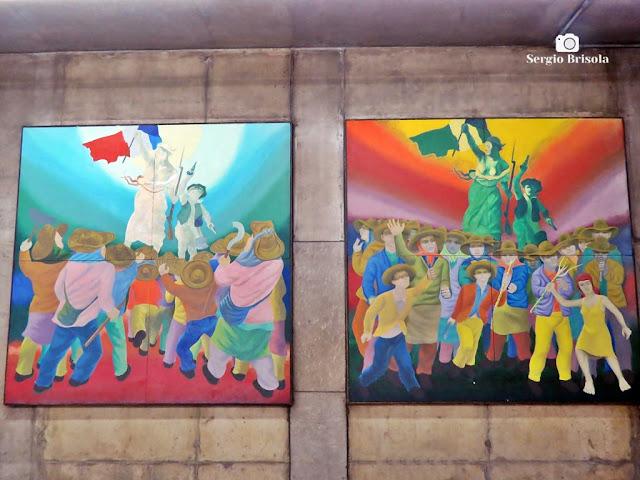 Obra O Povo e a Liberdade - Metrô Marechal Deodoro - São Paulo