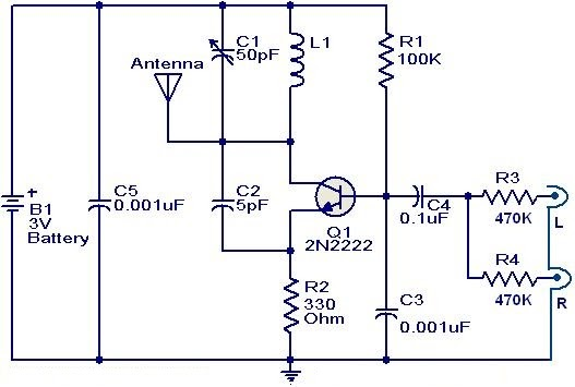 Fm Btransmitter Bcircuit Busing B N on Fm Radio Receiver Circuit Diagram
