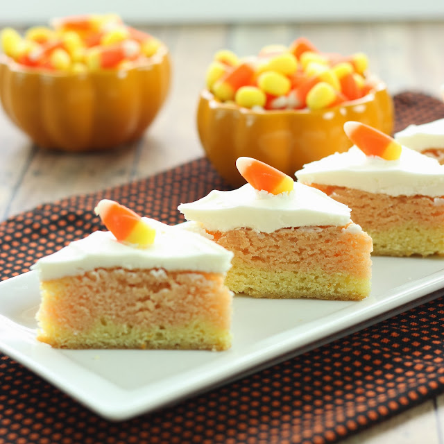 Candy Corn Bars | Cooking on the Front Burners #Halloween #bars