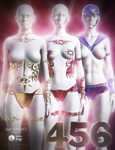Jepe's Jewels and Tears for Victoria 4 - Genesis 2 Female for Daz Studio
