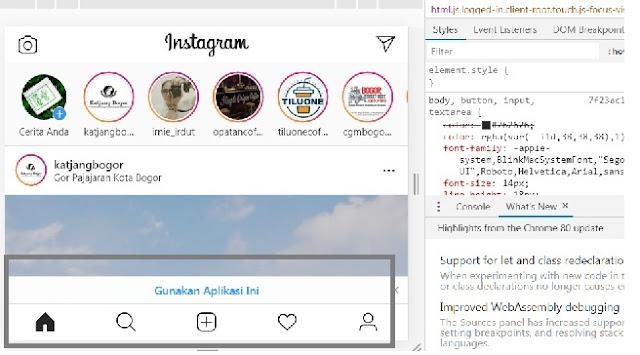 Cara Unggah Foto Ke Instagram Lewat PC / Desktop / Laptop