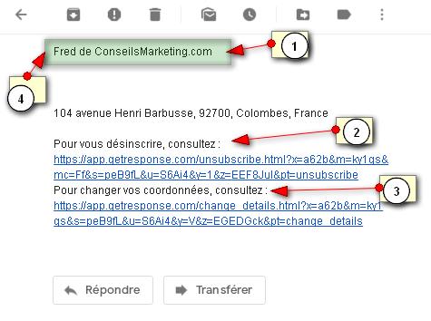 comment reduire le taux de desinscriptions à une liste d'Email