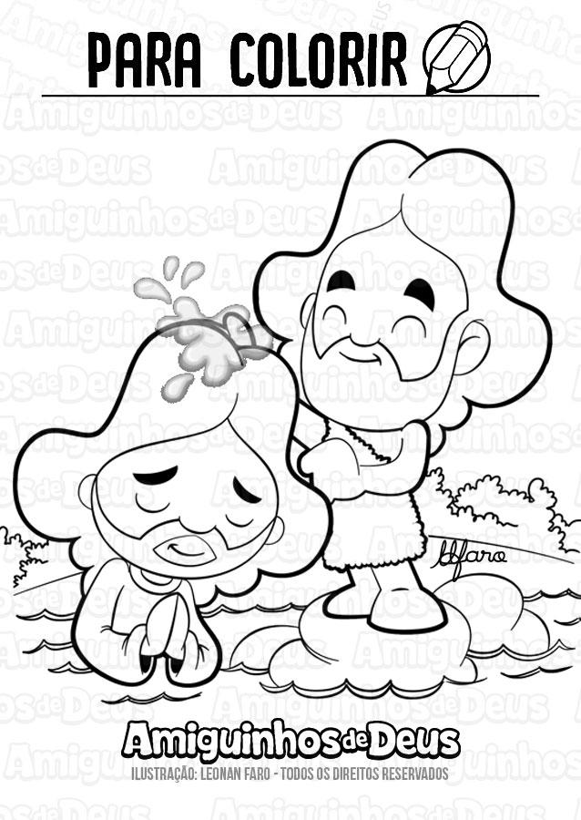 batismo do senhor desenho para colorir