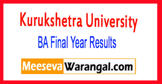 KUK (Kurukshetra University) BA Final Year Result 2018