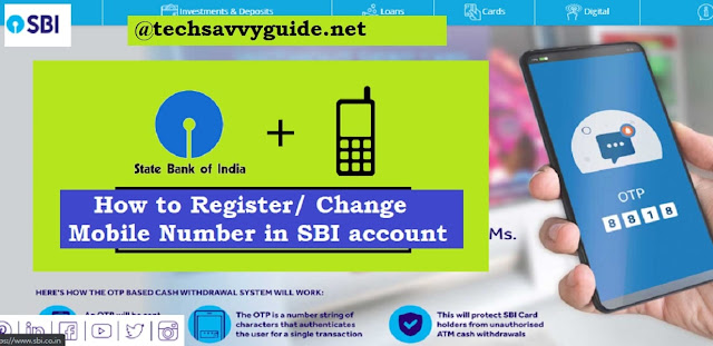 How to Register/ Change Mobile Number in SBI account | Link Mobile no.