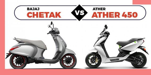 Bajaj Chetak vs Ather 450 Electric Scooter Full Comparison 🔥