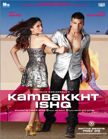 Poster Of Kambakkht Ishq 2009 Hindi 550MB BluRay 720p ESubs HEVC Watch Online Free Download downloadhub.in
