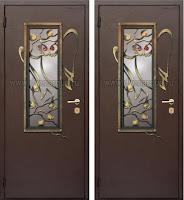 """Дверь с ковкой """"Лесная сказка"""""""